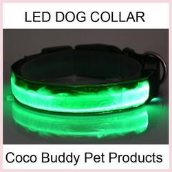 2.5CM Super Brightness LED Reflective Pet Dog Collar