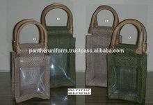 Eco-friendly Jute Gift Packaging wine Bottle Bag