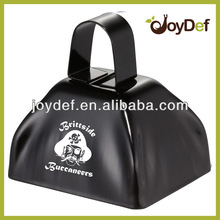 3 inch black cow bell customized logo branded promotional race cowbell