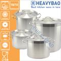 03 estilo de acero inoxidable de inducción de archivo pot