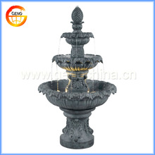 2014 hot selling two tiers garden fountain