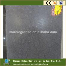 G684 Absolute Black Leather Granite Slabs Price
