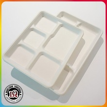 Biodegradable Bagasse Sugarcane Pulp Lunch Tray