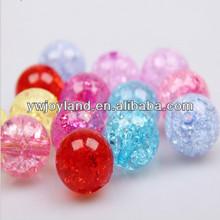 Big wholesale round loose Crack Acrylic beads, mixed ball acrylic beads fit handmade jewelry !