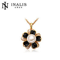 2014 Resin Flower Handmade Imitation Pearl Necklace