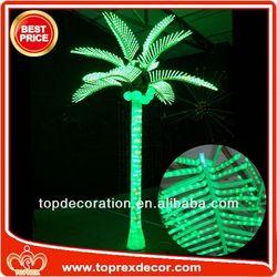 Novel palm tree inflatable slide