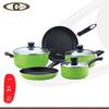 high quality aluminum non-stick kitchen utensils and cookware set