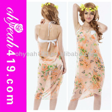 2014 Summer fashion floral print sarong beach wrap