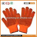 coton tricoté des gants de travail de sécurité avec paume enduite de pvc