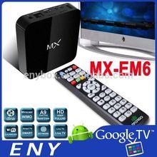 MX Dual Core Google Smart TV Box Support XBMC APK Skype Talking