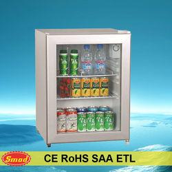 Home and hotel use mini showcase/display fridge
