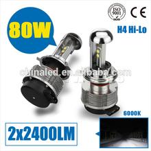 Hi Low Beam H7/H4/H11/9005/9006 BASE h4 2400lm car led lighting for Honda Toyota Chevrolet Prius Hyundai