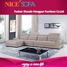 Hot sales top quality modern comfortable soft leather corner sofa set designs A830L