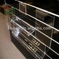 slatwall junta para la decoración de la tienda de zapatos de acrílico con
