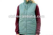 Stand Collar Reversible Vest, Reversible Down Vest Unisex 2014- Green