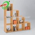 decorativos de madera escaleras libro estante de exhibición