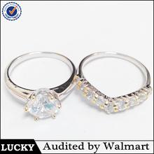 Fashion cz new model wedding ring,couple wedding rings jewelry