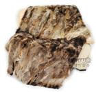 CX-D-74 2014 New Genuine Raccoon Fur Blanket