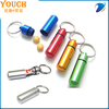 Supply Youch Hot Sale Aluminum Pill Case Keychain---- Popular in USA
