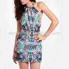 Summer Clothes Halter New Print Dress Hot Girls without Dress Photos