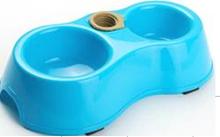 Multi function double bowl plastic pet bowls pet dog bowls