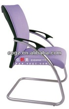 New design office furniture purple chrome office task staff chair with armrest