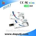 Chers usb carte d'affaires avec logo imprimer librement/oem de carte de crédit usb