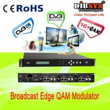 dvb-c digital catv modulator with 2xGbE IP inputs,up to 48 qam channels