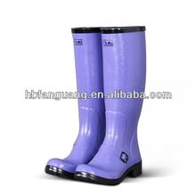 New Womens Rain Boots Size Wellies Flat Wellington Knee High Festival Welly Snow