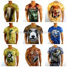 Wholesale Custom Real 3d printing t-shirt animals