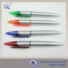 Wholesale Silvery Plastic Twist Mechanism Ball Pen