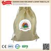 China supplier wholesale organic cotton drawstring bags