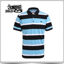 2015 high quality comfortable blue polo t shirts for men