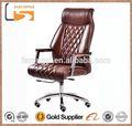 nuevo 2014 cómodoalta final rústico de cuero silla de oficina