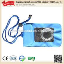 2015 high quality clear mobile phone pvc waterproof bag
