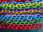All size of decorative plastic chain/3mm colorful traffic plastic chain