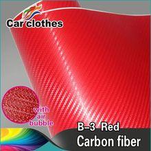 New 3D Carbon Fiber Vinyl Roll Film Bubble Free
