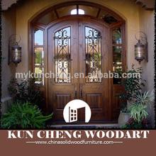 China supplier customized wood door for Villa/solid wood door/exterior wood door