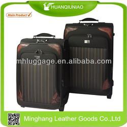 diamond fabric fake button trolley spinner wheels baigou factory popular design suitcase trolley luggage