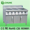 six burner stainlees steel commercial ranges electric