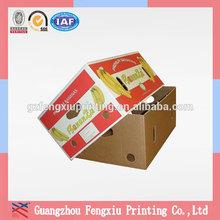 Custom Printed Separate Lid 5 Ply Corrugated Banana Carton Box