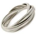 hecho en china de plata y oro de latón macizo banda elástica pulsera de cadena