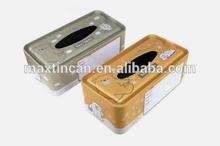 Tinplate material home use tissue packaging box, napkin tin box
