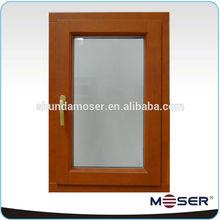 wood/timber aluminum clad tilt and turn double glazed window