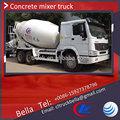 Howo caminhão betoneira 8 metros cúbicos, diferentes dimensões do caminhão betoneira