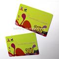 personalizado impreso de pvc de plástico tarjeta de comercio