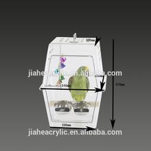 wholesale handmade acrylic clear bird breeding cages