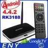 full hd 1080p porn video android quad core tv box 4k 2GB/8GB Quad Core Remote Control Mini PC CS918 MK888 RK3188