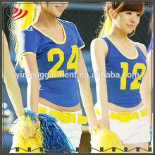 Cheerleader women uniform designs for soccer or basketball