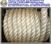 3 strands thick sisal rope abaca , 100% sisal hemp rope , natural manila sisal rope prices favorable